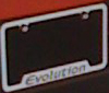 Mitsubishi OEM Evolution License Plate Frame