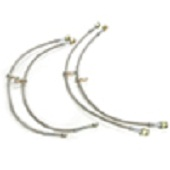AMS Stainless Steel Brake Lines Kit - EVO X