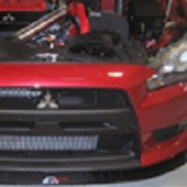 APR Carbon Fiber Front Splitter: EVO X