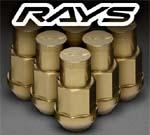 Rays 42MM 12x1.50 Lug Duralumin Nut Set 16 Lug 4 Lock Set