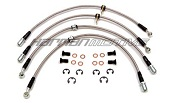 AQ Motorsports Stainless Steel Brake Line Set - EVO X