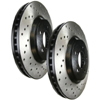 StopTech SportStop Rear Drilled Rotors - 2008-2014 EVO X