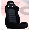 Bride Cusco Euro II+C Black Suede w/Dark Grey Mesh Seat