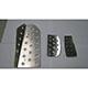 Autovation Pedal Set - Mitsubishi Lancer Evo X ('08+) Automatic Transmission - 3 Piece (Flanged Dead Pedal)