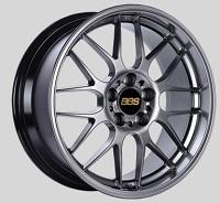 BBS RG-R 17x8.5 5x114.3 ET55 Diamond Black Wheels -82mm PFS/Clip Required