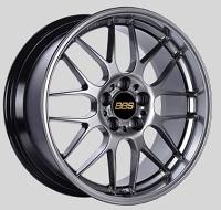 BBS RG-R 19x8.5 5x114.3 ET18 Diamond Black Wheels -82mm PFS/Clip Required