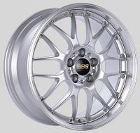 BBS RS-GT 20x8.5 5x114.3 ET43 Diamond Silver Center Diamond Cut Lip Wheels -82mm PFS/Clip Required