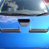 Rexpeed Carbon Fiber Twin Carbon Bonnet Vent - EVO X
