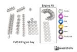 Dress Up Bolts Titanium Engine Bay Kit - 08+ EVO X