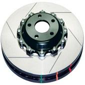 DBA Front Slotted 5000 Series 2 Piece Rotors Assembled w/ Black Hat - 2008-2014 EVO X