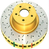 DBA Front Drilled & Slotted 4000 Series Rotors - EVO X