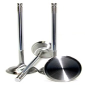GSC Chrome Polished Exhaust Valve Set of 8 - 30mm Head (+1mm) - EVO X