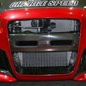 ChargeSpeed Type I Front Bumper Center Carbon Garnish - EVO X