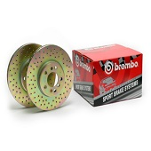 Brembo Drilled Rear Brake Rotors Set - EVO X